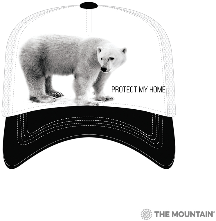 Кепка Mountain - Polar Bear Protect My Home